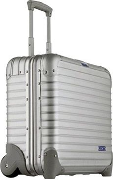 Rimowa Topas Business Trolley: If you need extreme protection for your business gear, you can rely on Rimowa to deliver. The Topas Business Trolley ($830) is an ultra-lightweight case made of aluminum-magnesium to protect its contents against high humidity and strong fluctuations in temperature. The Topas is built with a height-adjustable telescopic handle, large ball-bearing castors, removable interior file division and a combination lock that can be retracted in the frame.