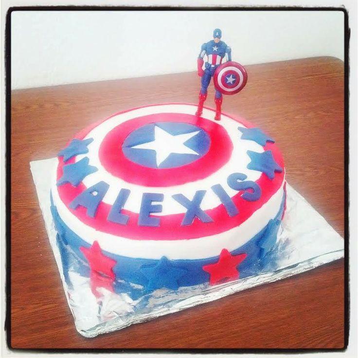 Tuto Gâteau Captain America by Madmoizelle Cupcake