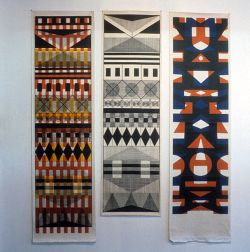 "blueberrymodern:  ""printed fabric wall hangings by angelo testa - via alex morrison  """