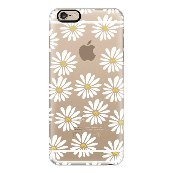 iPhone 6 Plus/6/5/5s/5c Case - Daisies - 90s cool trendy daisy flower... ($40) ❤ liked on Polyvore featuring accessories, tech accessories, iphone case, iphone cover case, flower iphone case, pattern iphone case and clear iphone cases