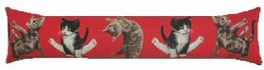 Yoga Cats Belgian Tapestry Draught Excluder