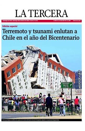 Terremoto Chile - 27.02.10 (La Tercera - Chile - 28.02.10)