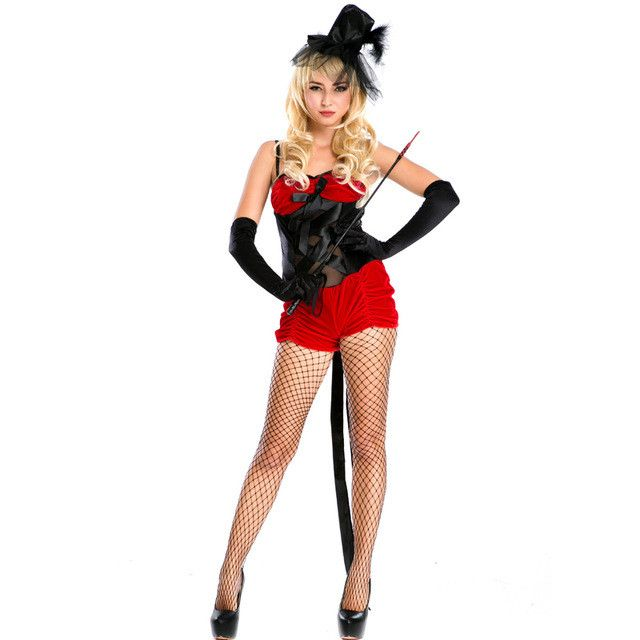 Halloween Costumes Sexy Role Play Magic Costumes Women Adult Magician Costumes Cosplay Fancy Red Dress Pirate Party A158636