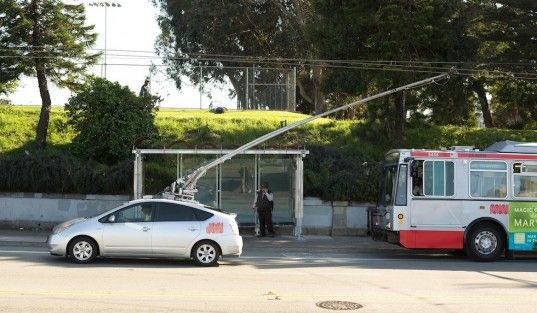 Man Hacks Prius to Run on MUNI Electric Bus Power Lines in San Francisco | Inhabitat - Sustainable Design Innovation, Eco Architecture, Green Building