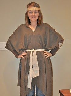 Easy, no sew scripture dress up clothes.  For acting out bible stories!