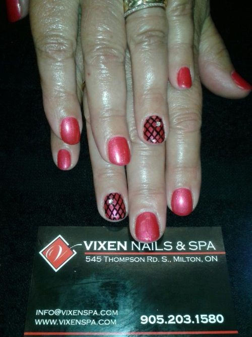 Shellac with fishnet