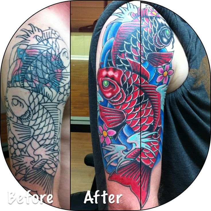 11 best cover up tattoo images on pinterest tattoo for Koi fish cover up