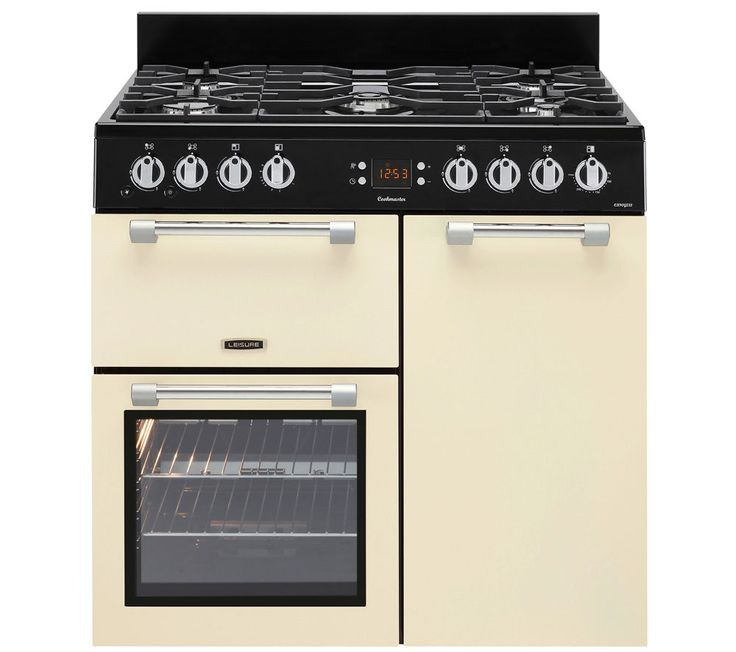 LEISURE Cookmaster CK90G232C Gas Range Cooker - Cream, Cream