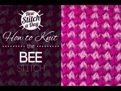 How to Knit the Two-Color Bee Stitch - NewStitchaDay.com