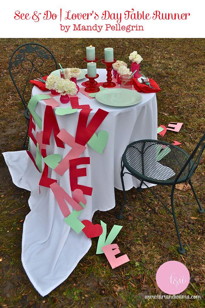 DIY Love Shoot Decor – Table Runner — luri amp; wilma   See amp; Do