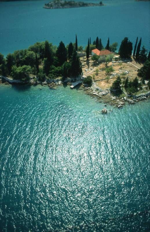 little island crkvica in mali ston bay