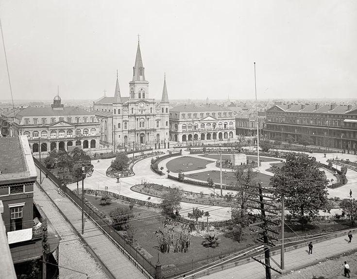 Jackson Square, New Orleans, c1903, Vintage Photo