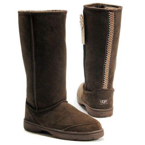 Ugg Ultimate Tall Braid Boots 5340 Chocolate