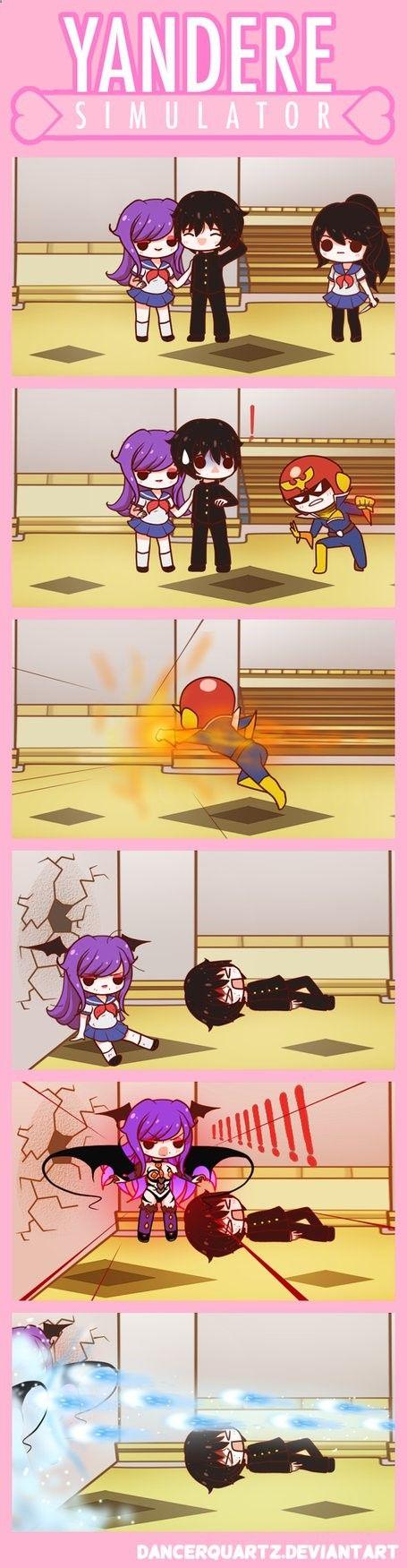 Yandere Comic - Bad Senpai! by DancerQuartz on DeviantArt ➦ http://www.diverint.com/imagenes-divertidas-para-facebook-dinero-jugando-al-escondite