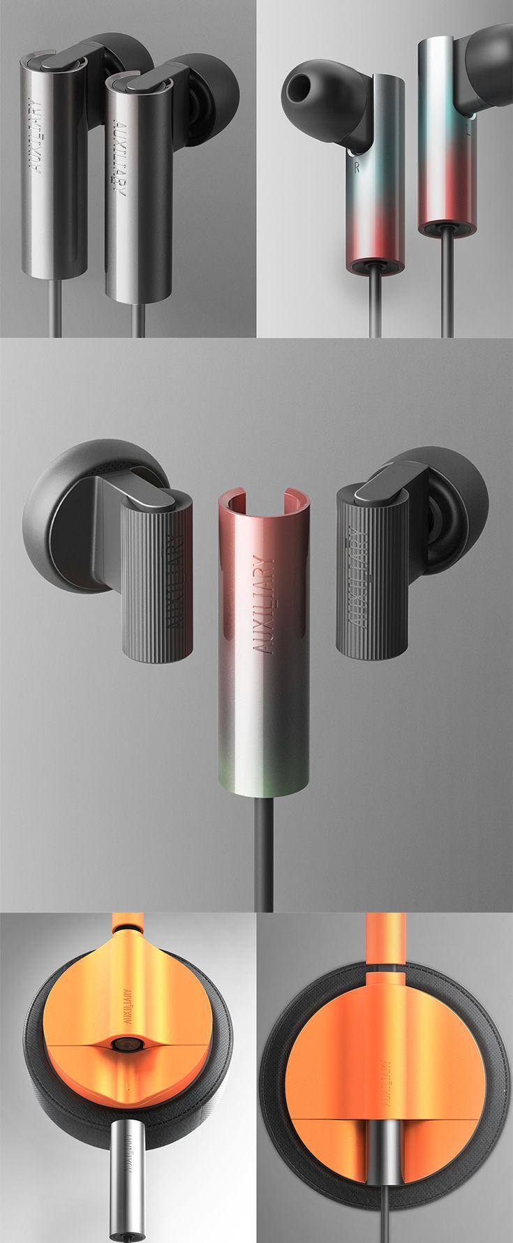 The 'Auxiliary project' aims at making earphones modular in the aspect that it allows you to flip/switch/change cables when you want or need to, since the most vulnerable part of any portable audio device is the cable... READ MORE at Yanko Design !