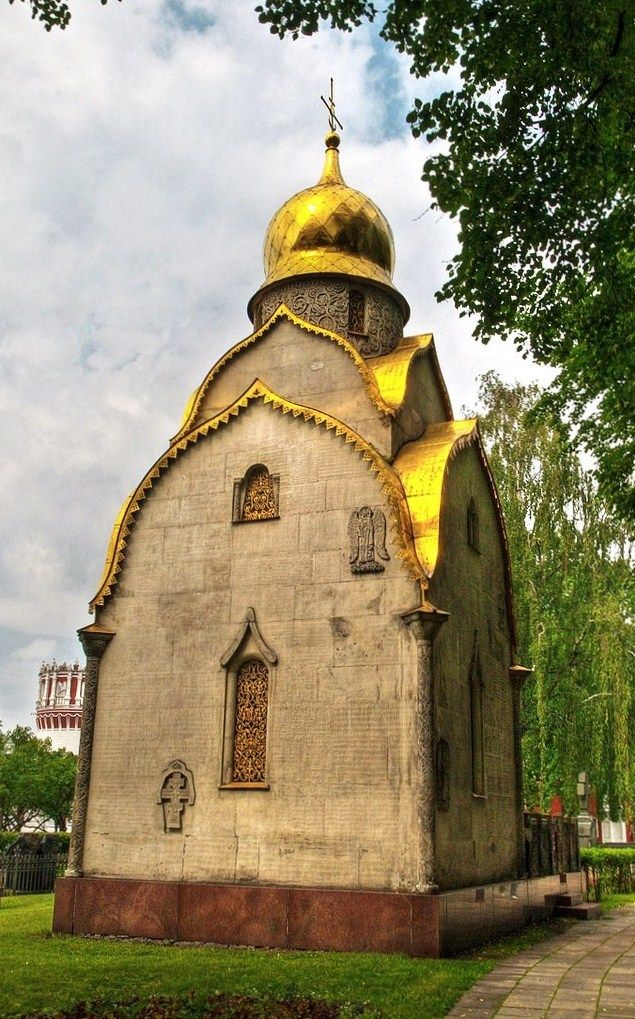 The Prokhorovs' Chapel in the Novodevichy Convent. #Moscow, #Russia.
