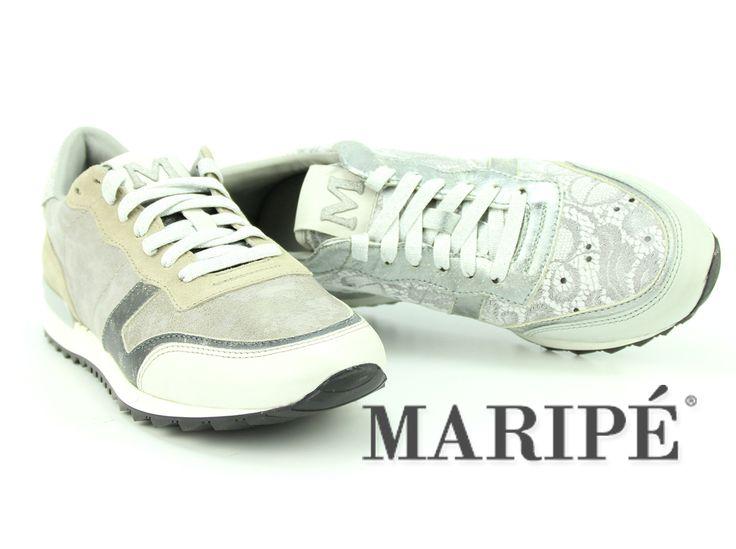 Leuke Maripé sneakers met metallic en kant. http://www.vanbommelschoenen.nl/damesschoenen/p-1/?merk=maripe