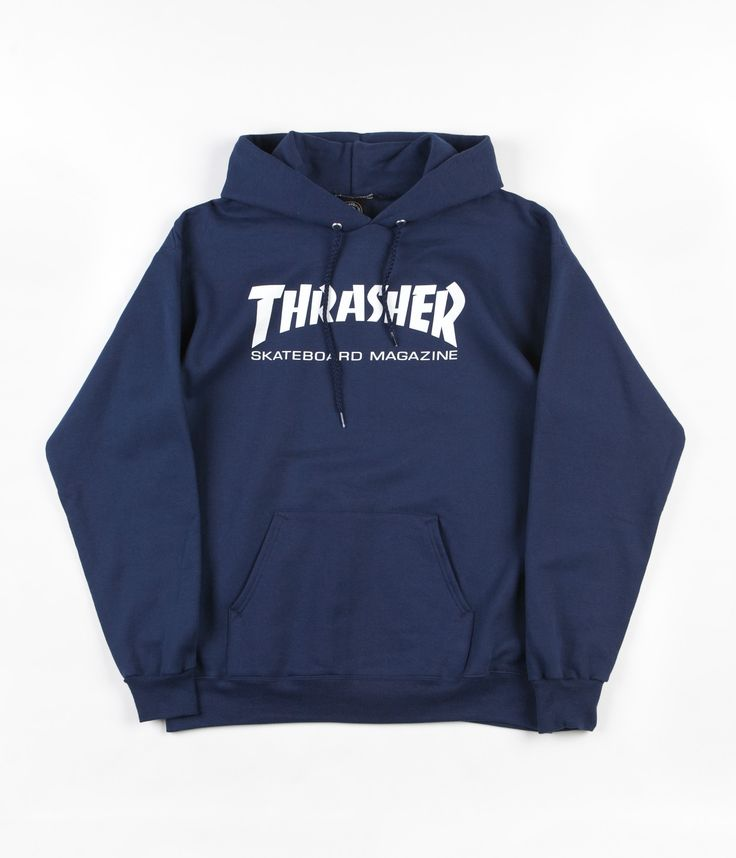 Thrasher Skate Mag Logo Hooded Sweatshirt - Navy