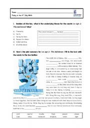 English worksheet: Ice Age 2: The Meltdown (WS1)