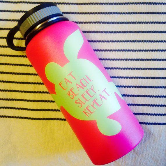 Just For Sharon Sea Turtle Hydro Flask Sticker Multi