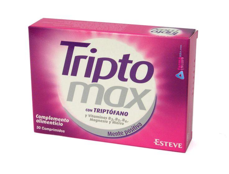 ¡Hola amig@s de Farmacia Fucar! Triptomax es un complemento o suplemento alimenticio y multivitamínico que es fundamentalmente es a base de triptófano, además del grupo de vitaminas B y de magnesio y hierro. Os lo contamos con más detalle en nuestro último post http://farmaciafucar.com/blog/triptomax/
