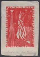 Dries Boskamp: ex libris. Fametszet, papír, jelzett. / Wood-cut. Signed. 14x10 cm