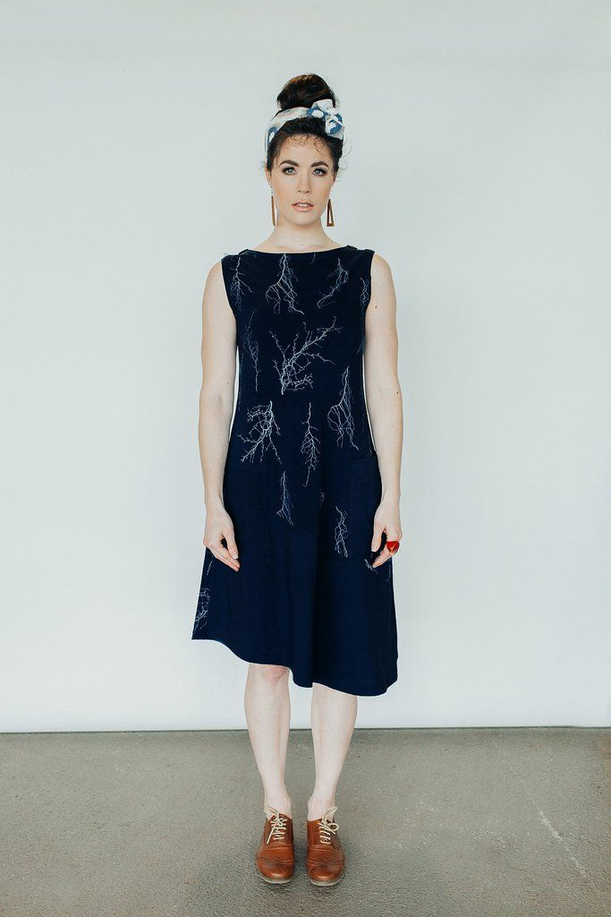 Coppice Tunic - French navy – Pure Pod