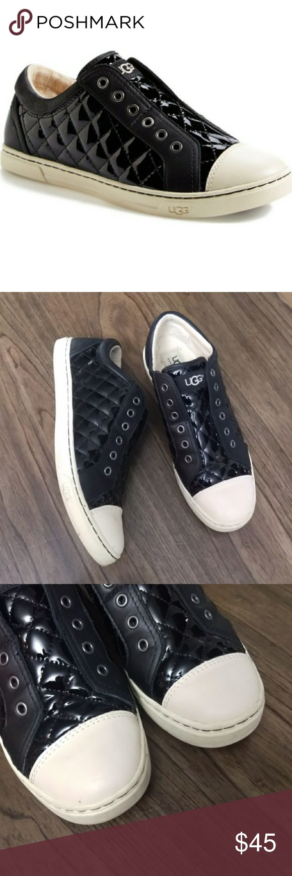 Australia UGG 'Jemma' Quilted Sneaker Pre-owned in good condition. Worn few times. Size 7.5.  Sleek diamond quilting and a laceless design update a classic cap-toe sneaker equipped with hidden elastic goring at the tongue for easy slip-on entry. UGG Shoes Flats & Loafers