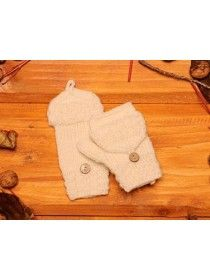 Children's Aran Mittens 100% Merino Wool