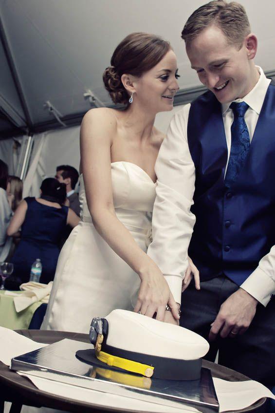 Captain's hat groom's cake