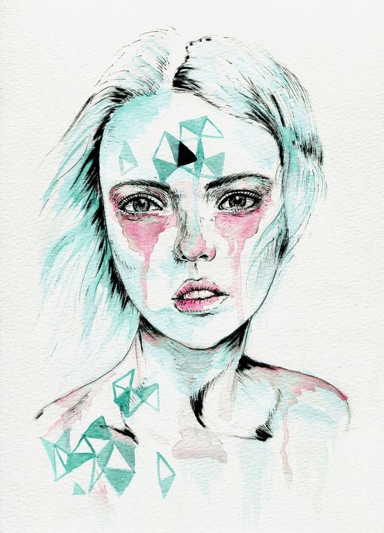 Woman v. Art Print
