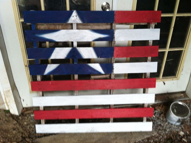 17 best images about red white and blue on pinterest for White painted pallets