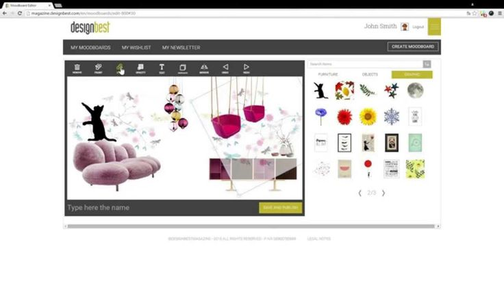 Tutorial: Make your Moodboard on Designbest Magazine!!