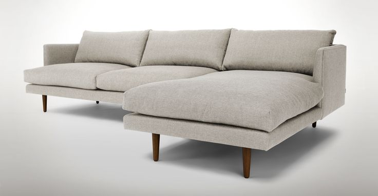 Burrard Seasalt Grey Right Sectional Sofa - Sectionals - Article | Modern, Mid-Century and Scandinavian Furniture