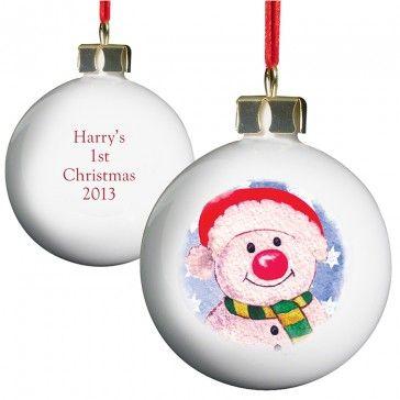 snowman gifts, snowman bauble