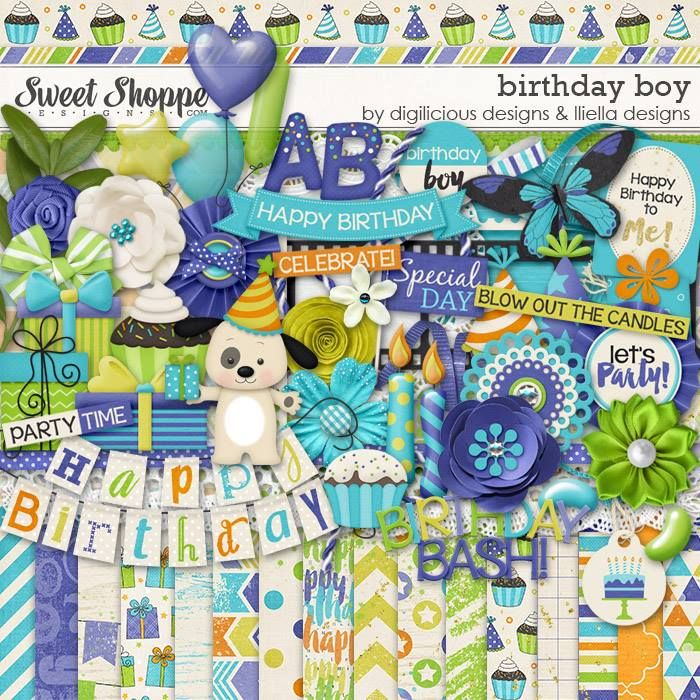Birthday Boy Kit by Digilicious Design & Lliella Designs