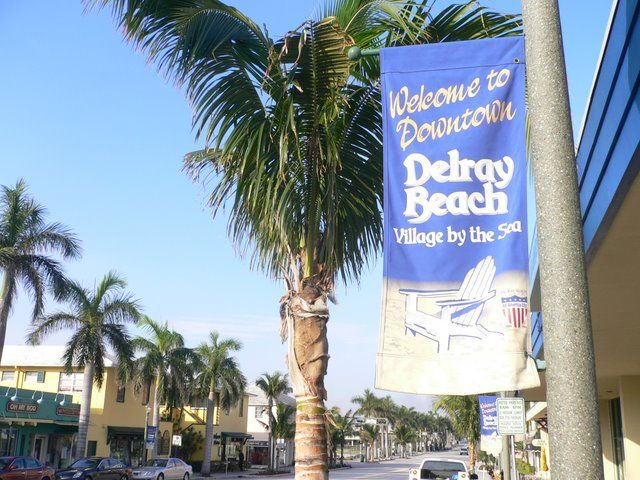 Downtown Delray Beach, FL - where my step-grandfather used to live...gorgeous beaches..