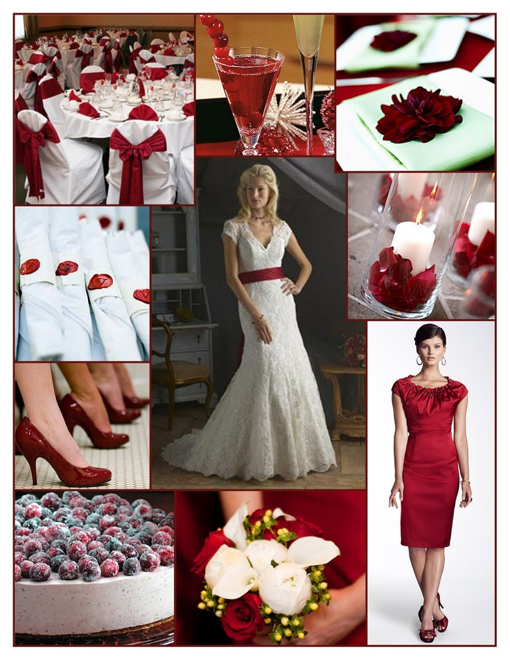 I do ... Inspiration: {Holiday Wedding} Cranberry Red & White