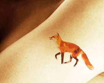 Running Fox Tattoo Sti...
