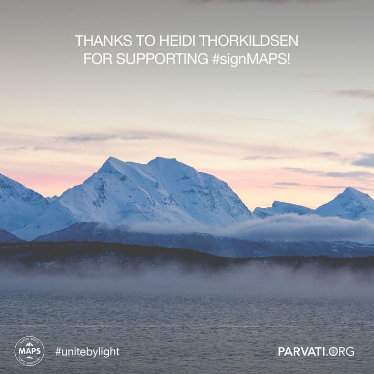 Gratitude to Heidi Thorkildsen for supporting parvati.org! Since our inception over two years ago, parvati.org has been self-funded and 100% volunteer-driven. Our goal is to realize MAPS: the Marine Arctic Peace Sanctuary by the end of 2018. The planet can't wait. For this, we need your help. Please consider making a donation at parvati.org.   If you have not already, please sign the MAPS petition!