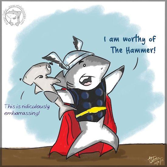The god of blunder #Shark #Thor