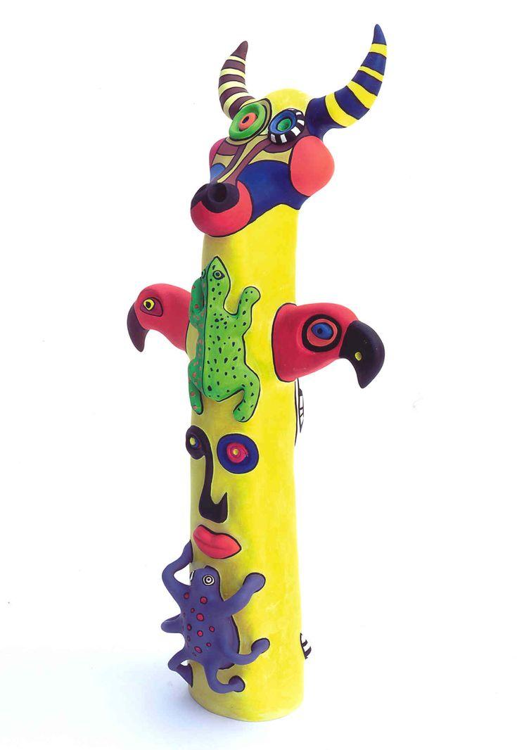 Totem: Bull Head - Niki de Saint Phalle polyester peinte