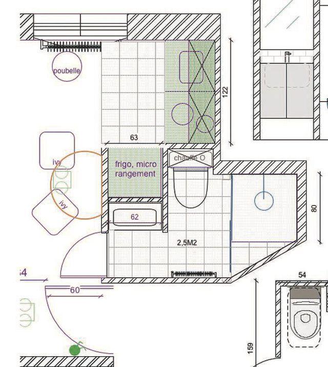 17 meilleures id es propos de salle de bain 5m2 sur - Salle de bain 5m2 ...