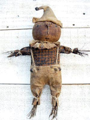 Primitive Folk Art Harvest Pumpkin by SweetpeasPrimitives on Etsy