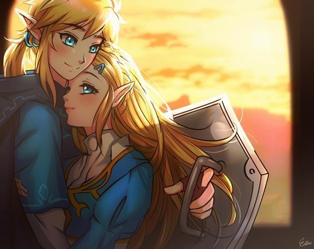 Link X Zelda Botw Legend Of Zelda Legend Of Zelda