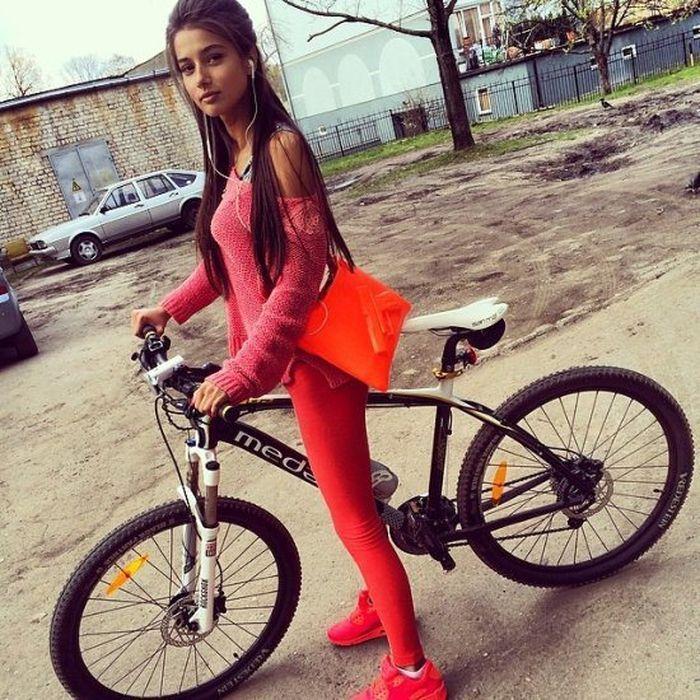 Сексуальная одежда для прогулок на велосипеде