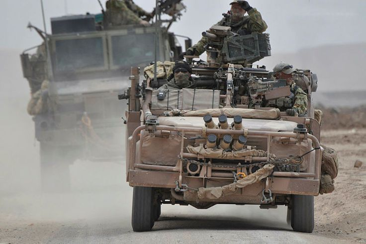Soldiers from the 1st Commando Regiment return to Tarin Kowt in a Long Range Patrol Vehicle (LRPV) after a successful mission in Southern Afghanistan which saw them travel over 600km in 17 days