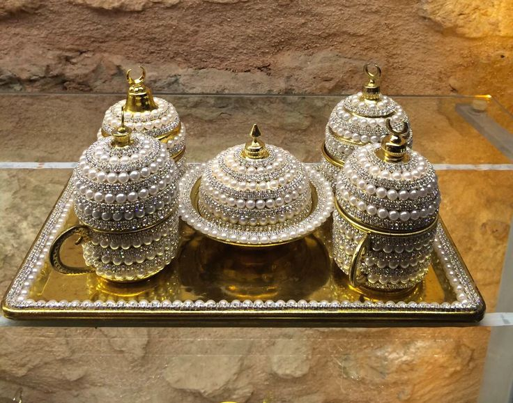 CYRISTAL COATED TURKISH COFFEE / ESPRESSO SET