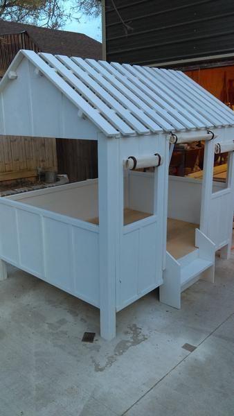 Kids bed, Kids beach house, Kids furniture #kidfurniture #backyardplayhouse #buildplayhouses
