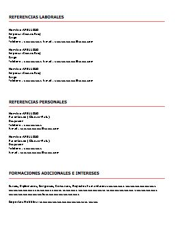 Curriculum Vitae Cronologico Para Descargar Best Dissertation